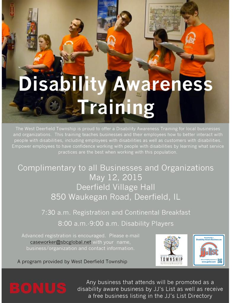 Disability awareness training poster