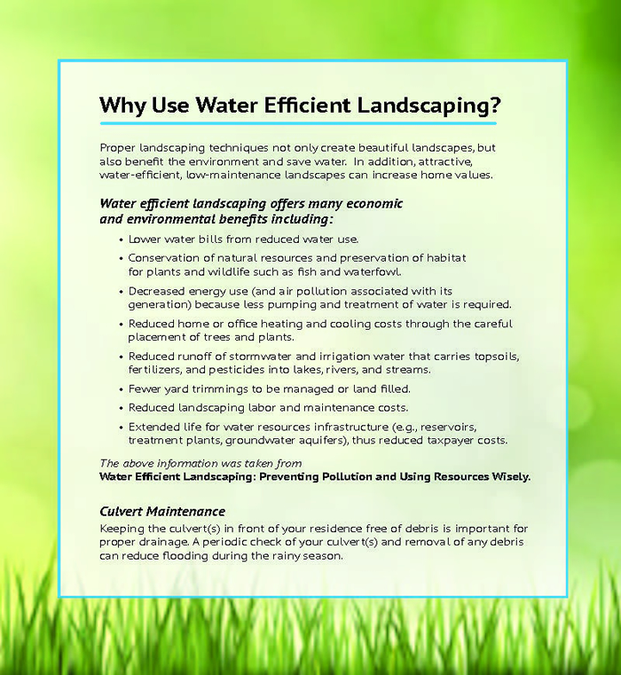 Why Use Water Efficient Landscaping West Deerfield Township